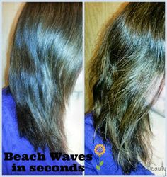 How to get Beach Waves in Seconds with just one product and no heat styling!