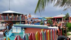 Nippers beach bar on Great Guana Cay