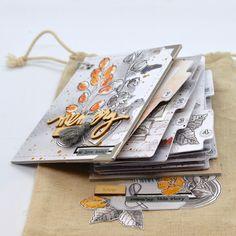 Mini Album Scrap, Mini Albums Scrapbook, Photo Album Scrapbooking, Minis, Notebook, Inspiration, Crafting, Handmade, Bags