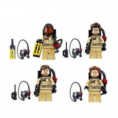 GHOST BUSTERS Minifigures Building Toys Kits RAYMOND EGAN Figure 4pcs Fit Lego S