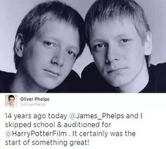 James and Oliver changed their lives that day. << their lives and thousands of others