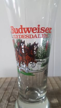 b37daddbaf6 Vintage Anheuser-Busch Clydesdale Pilsner 1991 Glass with Retro Plastic  Bottle Opener