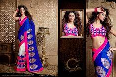 Bollywood style designer #saree shop online from #craftshopsindia