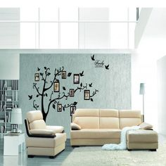 Wall Decal Sticker Removable Photo Frame Tree With Family