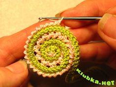 Tricot o crochet: {Espirales de cordones en tricot y crochet...}