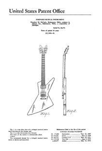 usa patent gibson guitar flying v explorer moderne drawingss patent gibson futura explorer guitar 1950 s art print
