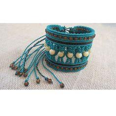 @mucaroart #macrame #bracelet # gemstone #turquoise