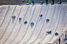 Go snow tubing at Ober Gatlinburg. #Gatlinburg #Tennessee #vacation #attractions #whattodo #events #family #fun