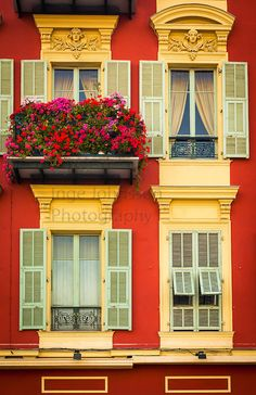 Typical French windows on residential building near the port in Nice, France.<br /> .....<br /> Nice is the fifth most populous city in France, after Paris, Marseille, Lyon and Toulouse, and it is the capital of the Alpes Maritimes département. The urban area of Nice extends beyond the administrative city limits with a population of about 1 million on an area of 278 sq mi. Located on the south east coast of France on the Mediterranean Sea, Nice is the second-largest French city on the…