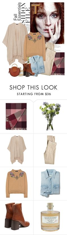 """Fall Felling"" by solespejismo on Polyvore featuring moda, JULIANNE, LSA International, The Row, AG Adriano Goldschmied, Dolce&Gabbana, Madewell, Acne Studios, Library of Flowers y Chloé"