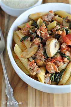 Penne with Sausage and Mushroom Ragu