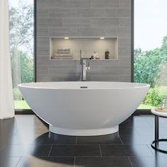 Affine Campana Freestanding Bath With Built-In Waste