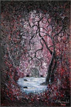 jezioro - obraz na płótnie artist: Edyta Muszelik