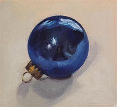 "Daily Paintworks - ""Blue Ornament"" - Original Fine Art for Sale - © Cheryl Meehan"