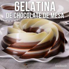 Mango Dessert Recipes, Gelatin Recipes, Jello Recipes, Cold Desserts, Delicious Desserts, Yummy Food, Kitchen Recipes, Cooking Recipes, Tasty Videos