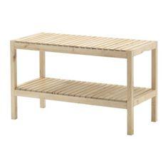 MOLGER Bank - Birke - IKEA ||   Kannn zu Heizungsverkleidung umgebaut werden, untere Etage raus nehmen und davor setzen.