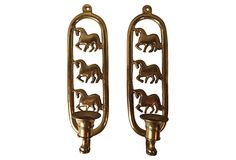 Horse Sconces, Pair on OneKingsLane.com