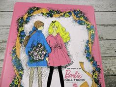 Vintage Barbie doll Trunk Mattel Pink 1968 I  I remember having this when I was little.