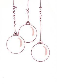 Feliz Navidad tarjeta de letras a mano - Katja Haas Christmas Design, Christmas Crafts, Merry Christmas, No Rain, Doodle Art, Letterpress, Diy And Crafts, Clip Art, Cards