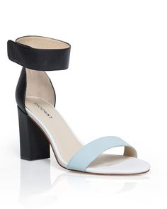 Love the two-tone black and light blue on these. Carys by ShoeMint.com, $50