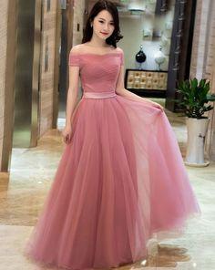 Elegant prom dresses - Plus Size Prom Dress, Off Shoulder Dusty Pink Gowns,Long Formal Dresses, Laceup Prom Dresses 2018 – Elegant prom dresses Junior Prom Dresses, Elegant Prom Dresses, Prom Dresses 2018, Tulle Prom Dress, Cheap Bridesmaid Dresses, Pretty Dresses, Lace Dress, Dress Formal, Dress Long