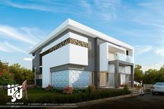 #modern #villa #3drender @hs3dindia #archdaily #archdesign #archilovers #architects #cgi