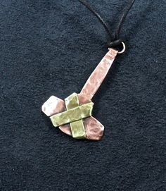 Hey, I found this really awesome Etsy listing at https://www.etsy.com/listing/210287895/thors-hammer-pendant-copper-and-brass