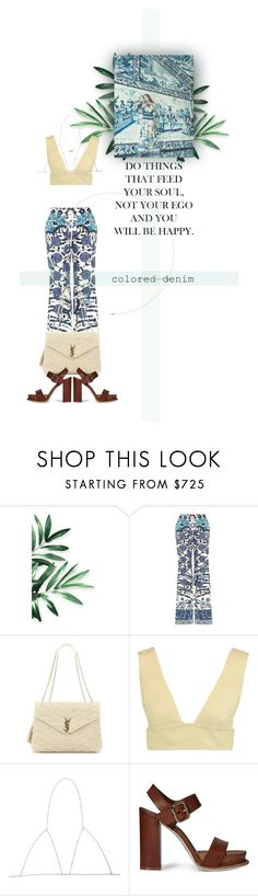 """""""Untitled #141"""" by hulahoneyjules ❤ liked on Polyvore featuring Roberto Cavalli, Yves Saint Laurent, Valentino, Tod's and Jacquie Aiche"""