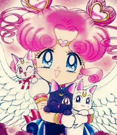 Chibi Chibi, Artemis, Luna, and Diana