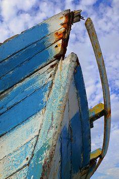 """""""Shipwreck"""" ~ Campeche, Mexico   Fishing boat ruin abstract in Campeche, Mexico.   © 2015 Skip Hunt   kaleidoscopeofcolor.com + skiphuntphoto.com + skiphuntphotography.com"""