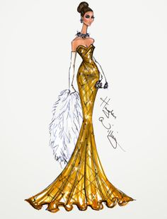 #Hayden Williams Fashion Illustrations #Golden Globe Couture 2014 by Hayden Williams