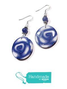 Denim Blue Round Earrings Polymer Clay Earrings Christmas Birthday Handmade Gifts for Her from SK  Artisan Jewelry & Gifts https://www.amazon.com/dp/B01NAD46I8/ref=hnd_sw_r_pi_dp_N4JpybFJ5HMXR #handmadeatamazon