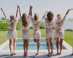 'Bride's Squad' bridesmaid robes