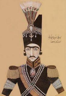 Nasserddin Shah of Qajar  [Paisley design motifs]
