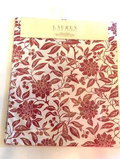 """Ralph Lauren Pineview Red Print Table Runner 15"""" x 72"""" Christmas Winter NEW #RalphLauren"""