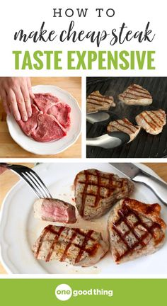 There's nothing quite like grilling a nice juicy steak when the weather warms up. Unfortunately, the best cuts of steak can bust the family grocery budget. Luckily, there is one simple ingredient you have in your pantry that will turn even the cheapest cu Cooking On A Budget, Budget Meals, Cooking Tips, Cooking Recipes, Budget Recipes, Easy Recipes, Healthy Recipes, Best Cut Of Steak, Steak Cuts