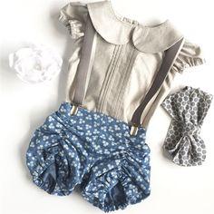 ✖️New✖️Vintage Bloomer shorts | Daisy Chambray | Inndigogirl | madeit.com.au