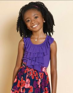 The African American children hairstyles are boundless. Larger part of African Americans don& demonstrate their genuine hair. You rarely will see an African Childrens Hairstyles, Natural Hairstyles For Kids, Little Girl Hairstyles, Trendy Hairstyles, Weave Hairstyles, Famous Hairstyles, Black Hairstyles, Skai Jackson, Curly Hair Styles