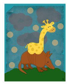 Look at this #zulilyfind! Riding an Armadillo Wall Art #zulilyfinds