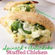 Spinach Artichoke Stuffed Chicken Recipe. On an MRC program use low fat cottage cheese and adjust portions per your menu.