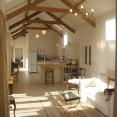 an old barn transformed into a lovely, comfortable cottage.
