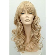 long blonde curly wig ❤ liked on Polyvore featuring beauty products, haircare, hair styling tools et curly hair care