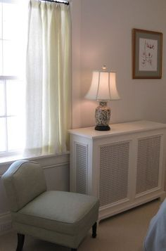 Radiator cover | traditional bedroom by Nadia Watts Interior Design