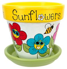 Sunflower Pot project from DecoArt