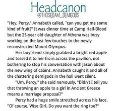 Awwww everyone probably started screaming in excitement and congratulating the both of them because... just Percabeth!