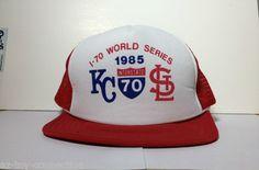 Vintage 1985 Kansas City Royals St Louis Cardinals World Series Trucker Hat New | eBay