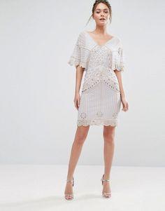 Frock & Frill Batwing Sequin Mini Dress
