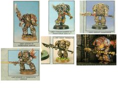 Reference pictures from White Dwarf. I don't have the actual paint anymore (Shining Gold I think it was ?) so the new colour will be close enough.