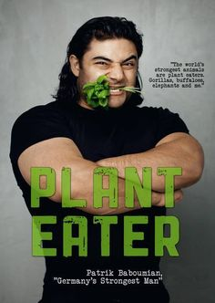 """""""Two years after going vegan, Germany's Strongest Man, Patrik Baboumian, demonstrated that a plant-based diet had not diminished his phenomenalRead more » Vegan Facts, Vegan Memes, Vegan Quotes, Why Vegan, Vegan Vegetarian, Vegan Food, Vegetarian Quotes, Vegan Raw, Berlin Vegan"""