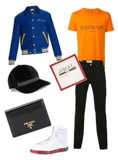 Garoto in Foco 105 by garotoinfoco on Polyvore featuring polyvore Balmain Acne Studios Yves Saint Laurent Prada Brunello Cucinelli Gucci men's fashion menswear clothing